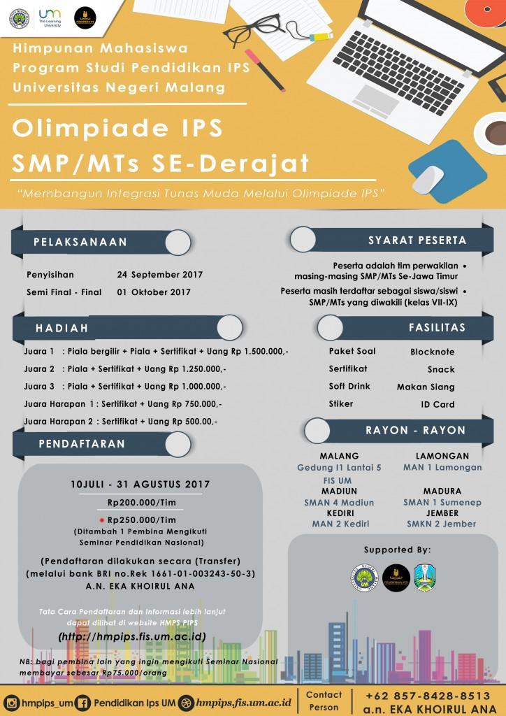 Pamflet Olimpiade IPS Se-Jatim HMPSPIPS 2017